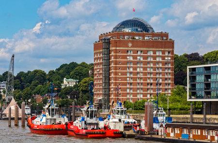 Senior residence at the Hamburg harbor Editorial