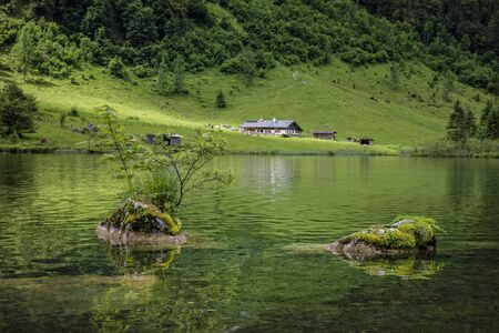 the Hintersee in Bavaria Stock Photo - 76371068