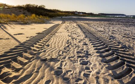 skidmarks: Footprints in the sand