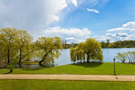 schweriner 湖 写真素材