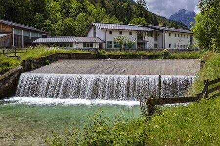 Small weir in bavaria
