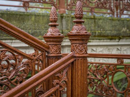 ornamentations: Historical stairs Stock Photo