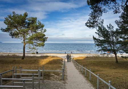 Access to the Baltic Sea in binz on Ruegen