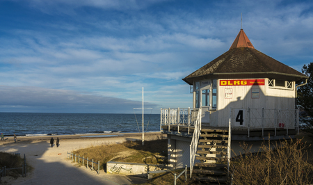 Rescue station on the Baltic Sea
