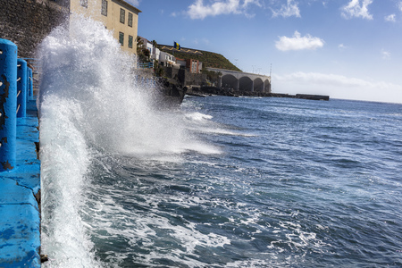 Waves on the island of Madeira Stock Photo