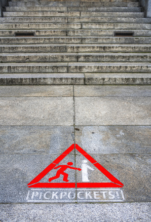 Be careful pickpockets