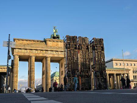 Monument at the Brandenburg Gate in Berlin