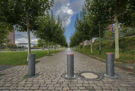 Bollard on a private road