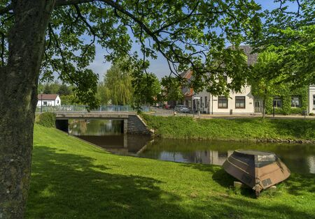 Gracht in the village of Friedrichstadt