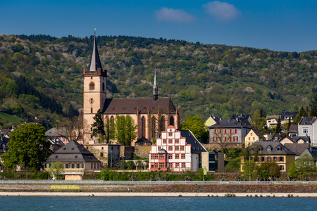 View of the city Lorch am Rhein in Germany