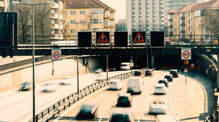 Berlin city freeway at the Rathenau tunnel