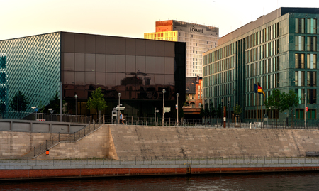 the berlin hospital charite and the chapel bank on the river spree 報道画像