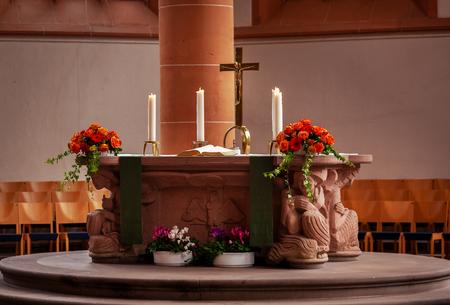 altar in a catholic church