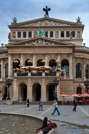 the opera house in frankfurt