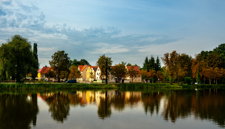 small village in brandenburg Stock Photo