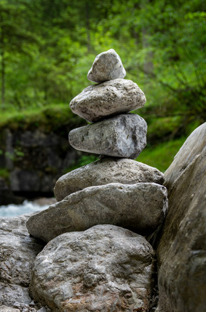 Pile of small stones Stock Photo