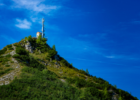 Antenna on a mountain peak