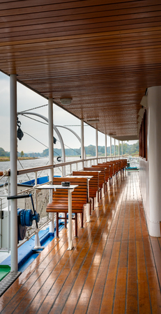 Deck on a pleasure boat