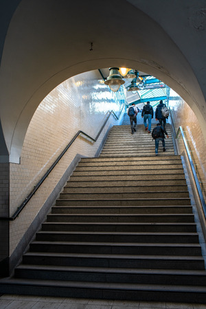 stairs to the station