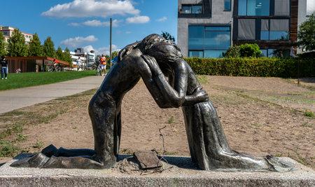 Statue at the Berlin Wall Memorial