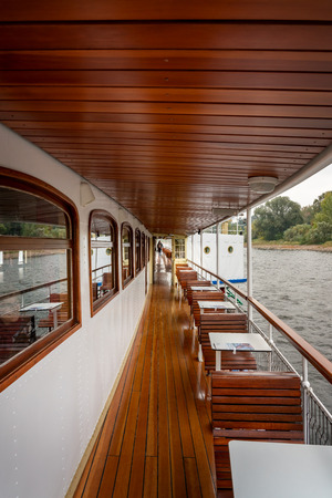 on deck of a pleasure boat on the Elbe near Dresden