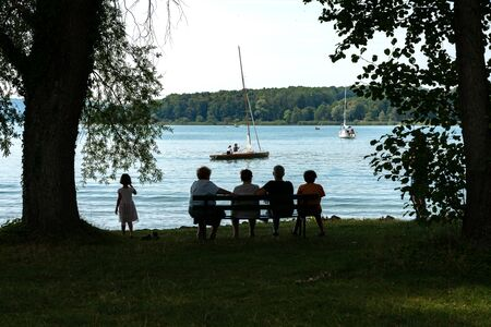 Family at the Chiemsee in Bavaria