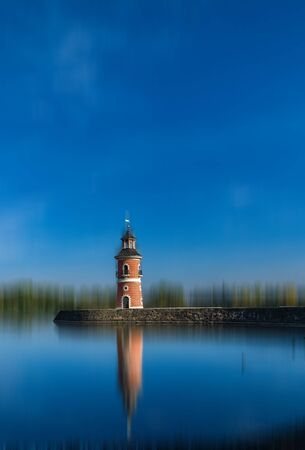Little light tower in saxony, germanay Archivio Fotografico - 128395806