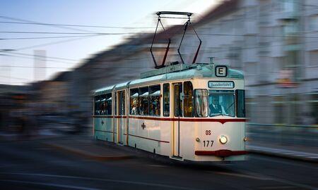 A old tram in Potsdam, Brandenburg, Germany