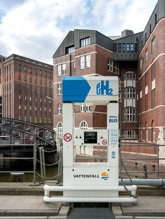 Hydrogen filling station in hamburg 版權商用圖片