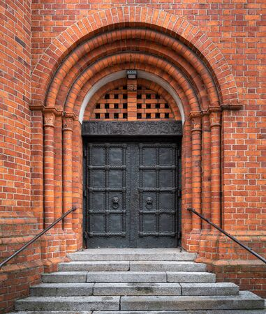 Portal a church in berlin district steglitz, germany