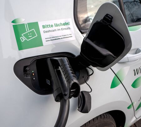Refueling an electric car with electricity