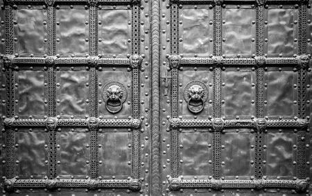 Doors on the portal of a church in Berlin