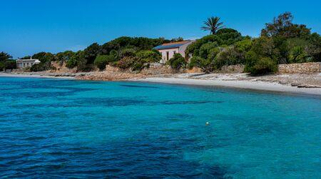 Strand an der Costa Smeralda auf Sardinien Standard-Bild