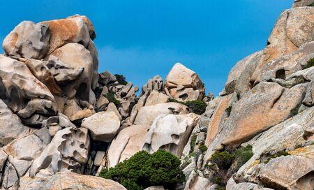The rocks in Carpo Testa on Sardinia Stock fotó