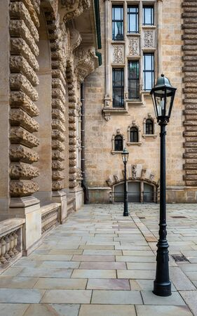 Lantern in the courtyard of the Hamburg City Hall