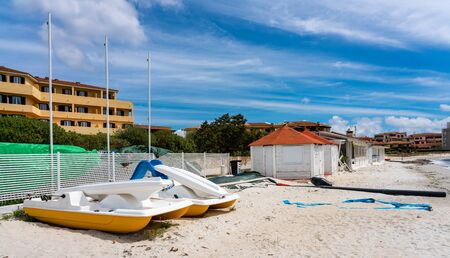 On the beach of Sardinia Stockfoto - 128604824
