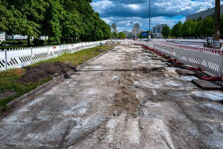 Road construction site in berlin