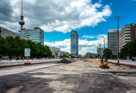 Road construction in Berlin