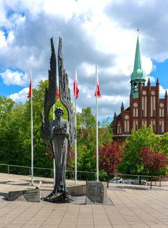 Solidarity Square in Szczecin, Poland Banco de Imagens