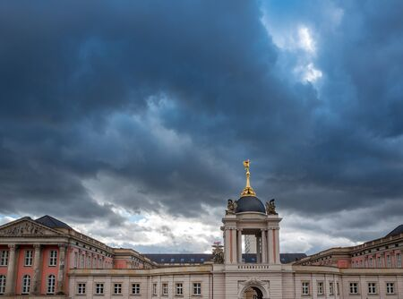 Rain clouds over the Fortuna portal at the state parliament in Potsdam Reklamní fotografie