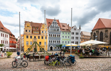 The market square of Meissen in Saxony