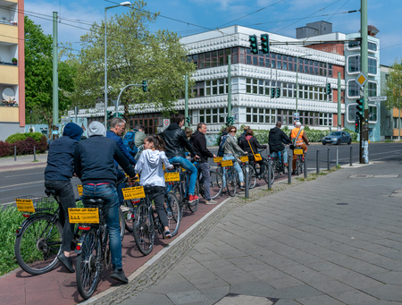 Group of cyclists in Berlin