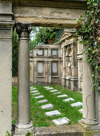 Grave of a large family on a cemetery in Berlin
