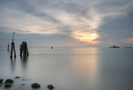 Sea at venice Stock Photo