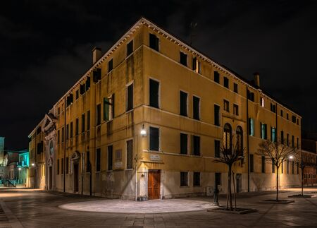 A house by night in Venice Stock fotó