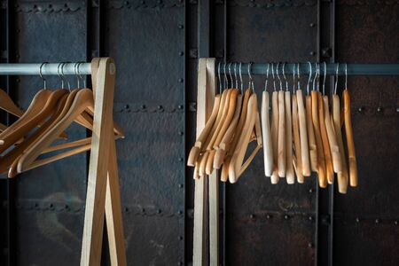 Clothes hanger on the wardrobe
