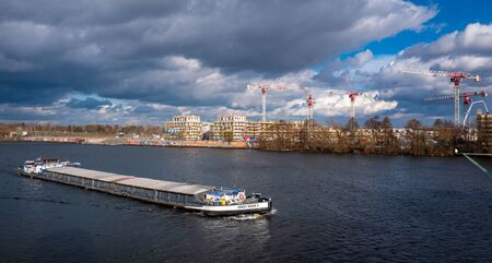 Transport ship on the Havel in Berlin Spandau