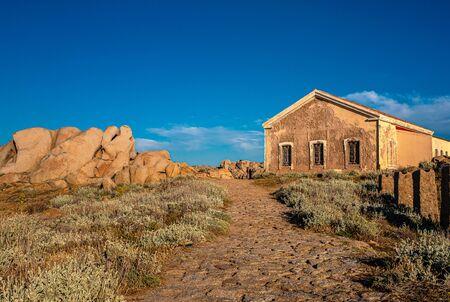 Hut in the mountains of Capo Testa in Sardinia Reklamní fotografie