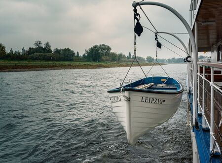 Lifeboat on a pleasure boat Standard-Bild
