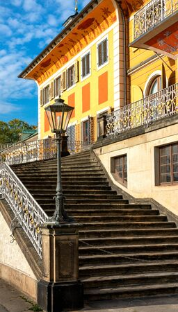 Stairs at Pillnitz Castle in Dresden